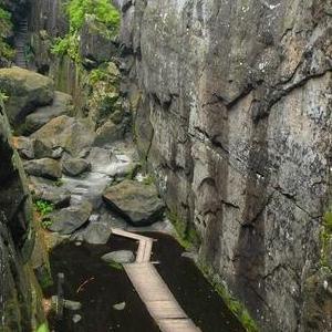 Okolice Kudowy Zdrój ściana skałek